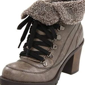 JellyPop 9 Leal Ankle Boots Booties Heels Gray